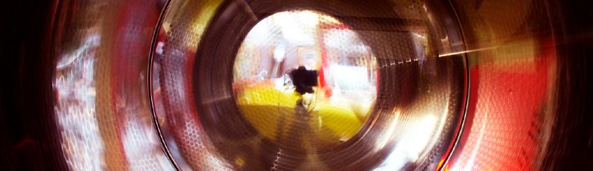 Cyberwash wasserette Utrecht binnenkant droger